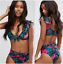 Womens-High-Waist-Swimwear-Bikini-Set-Push-up-Padded-Bra-Bathing-Suit-Swimsuit thumbnail 13