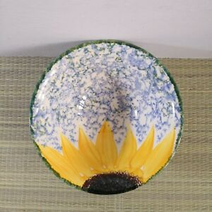 Poole-Pottery-Vincent-Sunflower-Hand-painted-Large-Bowl