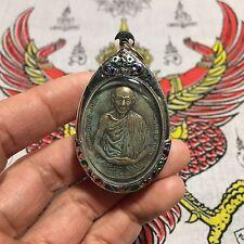 Lp Kasem Meditating Thai Buddha Amulet Talisman Pendant Luck Rich Protect