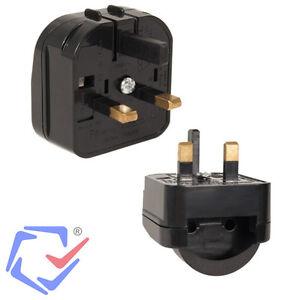 reise adapter eu uk euro auf england reise stecker strom adapter 2 3 pin ebay. Black Bedroom Furniture Sets. Home Design Ideas