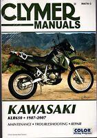 1987-2007 Clymer Kawasaki Motorcycle Klr650 Service Manual M474-3