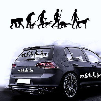 Autoaufkleber Sticker Autofolie Aufkleber Evolution Hund Dobermann