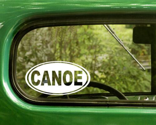 2 CANOE DECALs Oval Sticker For Car Window Truck Laptop Rv Bumper Jeep 4x4