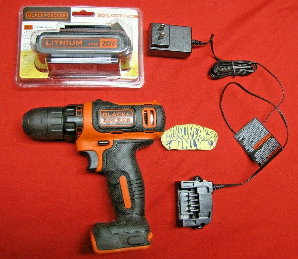 BDCDD12C musclecarsonly_gmpartsstore Black & Decker Drill/Driver With Lithium 12 Volt Battery & Charger BDCDD12C