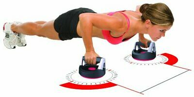 Perfect Fitness Push up Rotating Handles Pair Non-Slip Crossfit Grips Workout