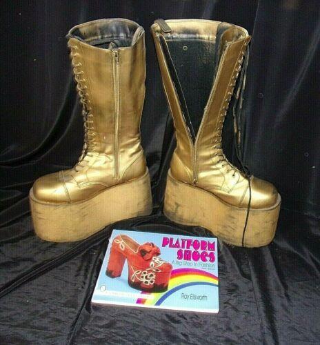 Demonia  Mega 602 Platform Boots-Goth Lace Ups Sid
