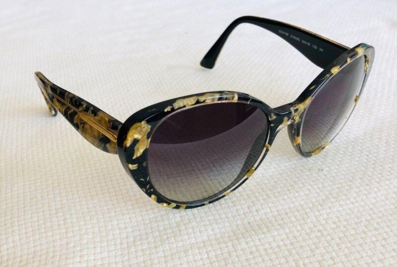 Bonito Dolce & Gabbana Sol Dorado Hoja Negro/gris Dg4198 2745/8g 54-18 135