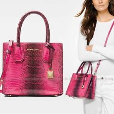 90a5359e7878 item 2 NWT 💕 Michael Kors Mercer Medium Messenger Embossed Leather Tote Bag  Ultra Pink -NWT 💕 Michael Kors Mercer Medium Messenger Embossed Leather  Tote ...