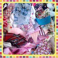Mixed 100g Bag Of Fabric Scraps Material Job lot Bundle Scraps & Offcuts