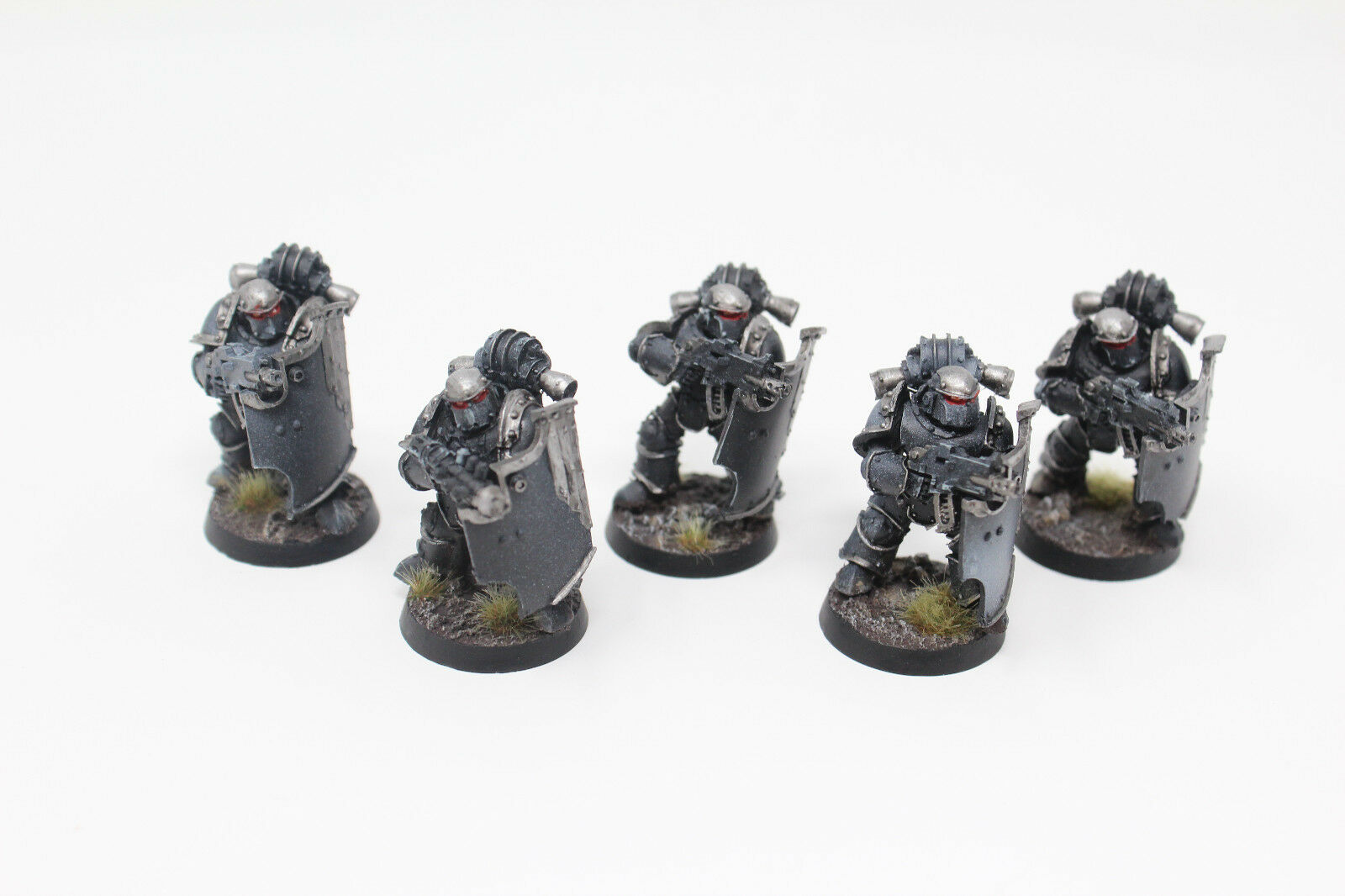 Warhammer Space Marines 30k Iron Hands Breacher Squad Well Painted