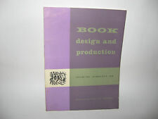 BOOK DESIGN AND PRODUCTION [Volume Two: number four: 1959]