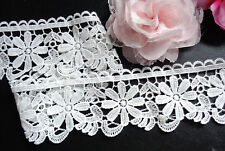 2 1/2 inch wide antique white  Embroidery Lace tape trim selling by the yard