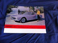 1963 1964 Ferrari 250GT Lusso Original Color Brochure Prospekt