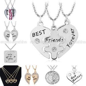 best friends forever bff friendship pendant