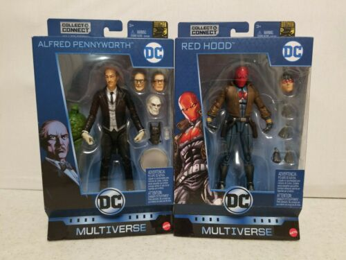 DC Comics Multiverse Batman 80th ALFRED PENNYWORTH And Red Hood Lot Complete