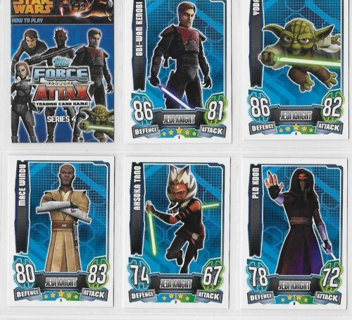 STAR WARS FORCE ATTAX SERIES 4  BASE BASIC  CARDS 001  to 192 CHOOSE BY TOPPS