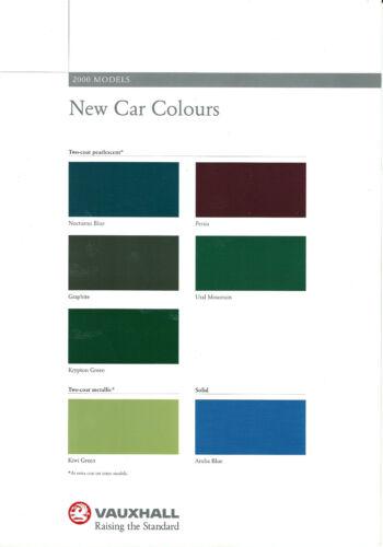Vauxhall nuova automobile COLORI 2000 modelli vm9900860 06.99 UK