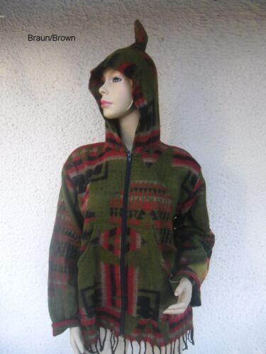 Zipfelkapuze Elfen Ethno Rasta goa hippie nepal psy Jacke Jacket Aztec M L