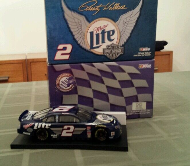 NASCAR ACTION DIE CAST RUSTY WALLACE MILLER LITE HARLEY-DAVIDSON 1999 TAURUS