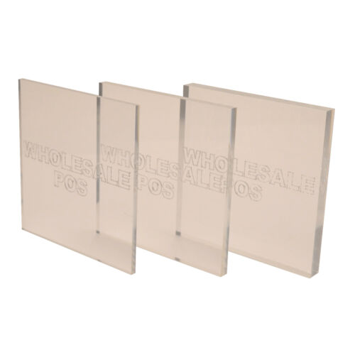 50mm 50mm Thick Square Cut Clear Perspex® Sheet /& Block 800mm Square 1mm