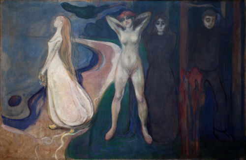 EDVARD MUNCH THE WOMAN IN 3 STAGES  EXPRESSIONISM ART GICLEE PRINT FINE CANVAS