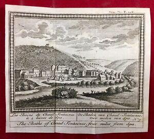 Spa-en-1784-Les-Bains-de-Chaud-Fontaines-Belgique-Rare-Gravure-Ancienne
