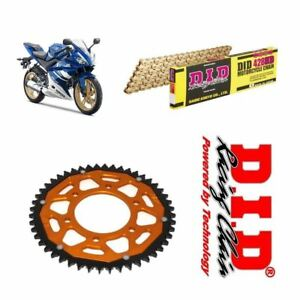 Yamaha-YZF-R125-Chain-and-Sprocket-Kit-Gold-DID-Gold-ZF-Rear-Sprocket