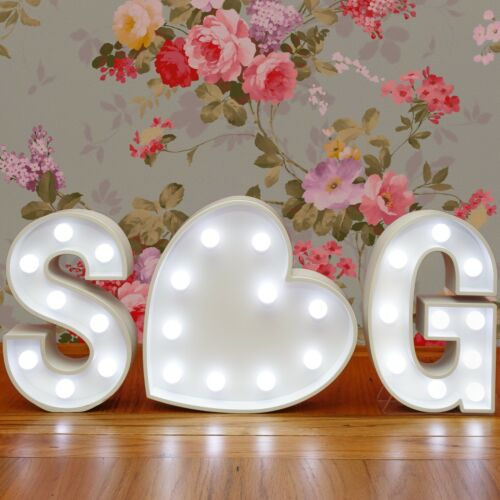 Light Up Letter O White Marquee Letters 23cm LED Wooden Letter Lights Sign A-Z