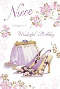 Niece Wishing You A Wonderful Bag Shoes Design Happy Birthday Card