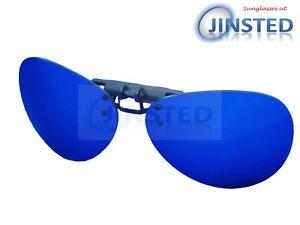 REFLECTANTE-Azul-Con-Espejo-Piloto-Clip-en-Levante-de-Sol-sunnies-sombra-ACP032