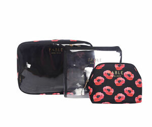 3-PIECE-SET-PERFECT-POPPY-MAKE-UP-BAG-TOILETRY-BAG-COSMETIC-BAG-GREAT-GIFT-IDEA