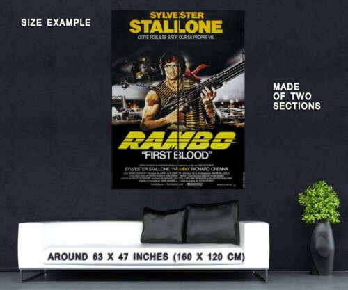61900 First Blood 1982 Rambo Movie Film Wall Print POSTER Plakat