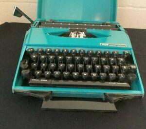 Smith Corona Super G Portable Typewriter Design by Karmann Ghia 1970s MCM