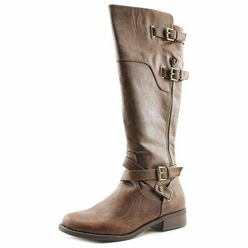 G By GUESS Henri Distressed Taupe Faux Leder Fashion Knee-High Boot, 6M - 89