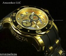 NEW Invicta Mens Pro Diver Scuba 18k Gold Plated Stainless Steel Gold Dial Watch
