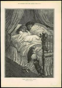 1891-Antique-Print-FINE-ART-Preparing-for-the-Pantomime-Birkenruth-052