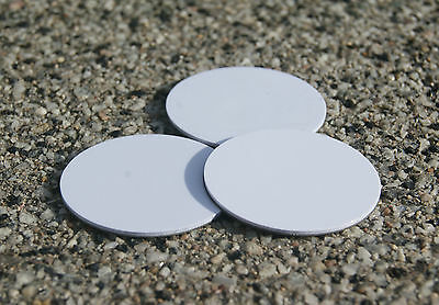 3x NFC on-metal sticker con MIFARE Classic ® chip 30mm pegatinas blanco Outdoor