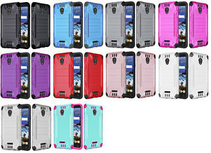 official photos 58f9f 68c7d Details about Combat Dual Hybrid Protector Case Phone Cover for Alcatel  Raven LTE A574BL