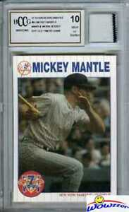 1997-Scoreboard-61-Mickey-Mantle-YANKEES-WORN-JERSEY-Beckett-10-MINT-GGUM