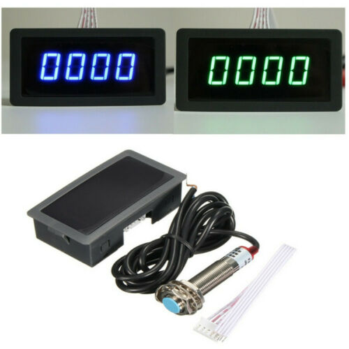 Proximity Switch Sensor USA Digital Red LED Tachometer 10-9999 RPM Meter Gauge