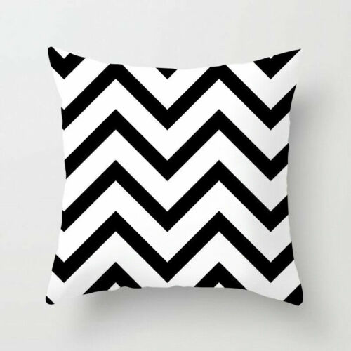 /& Decor Geometric Square Cover Throw White Case Dazzling Cushion Pillow Black