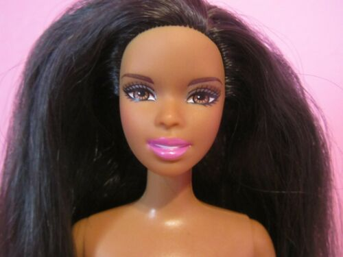 Christie Asha Barbie Doll Black African AA Purple Ballerina Legs, Nude for OOAK