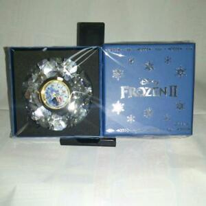 Frozen2 Premium Diamond Cut Crystal Clock Olaf Disney From Japan