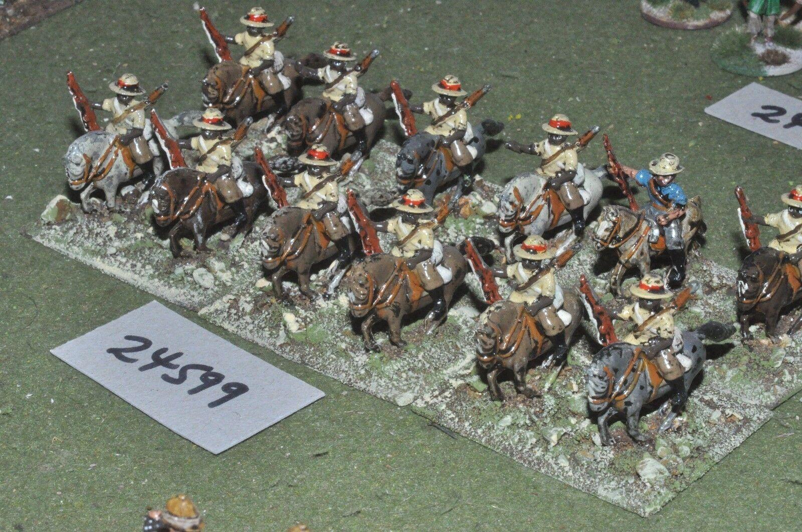 25mm colonial   zulu war - mounted riflemen 12 figures - cav (24599)