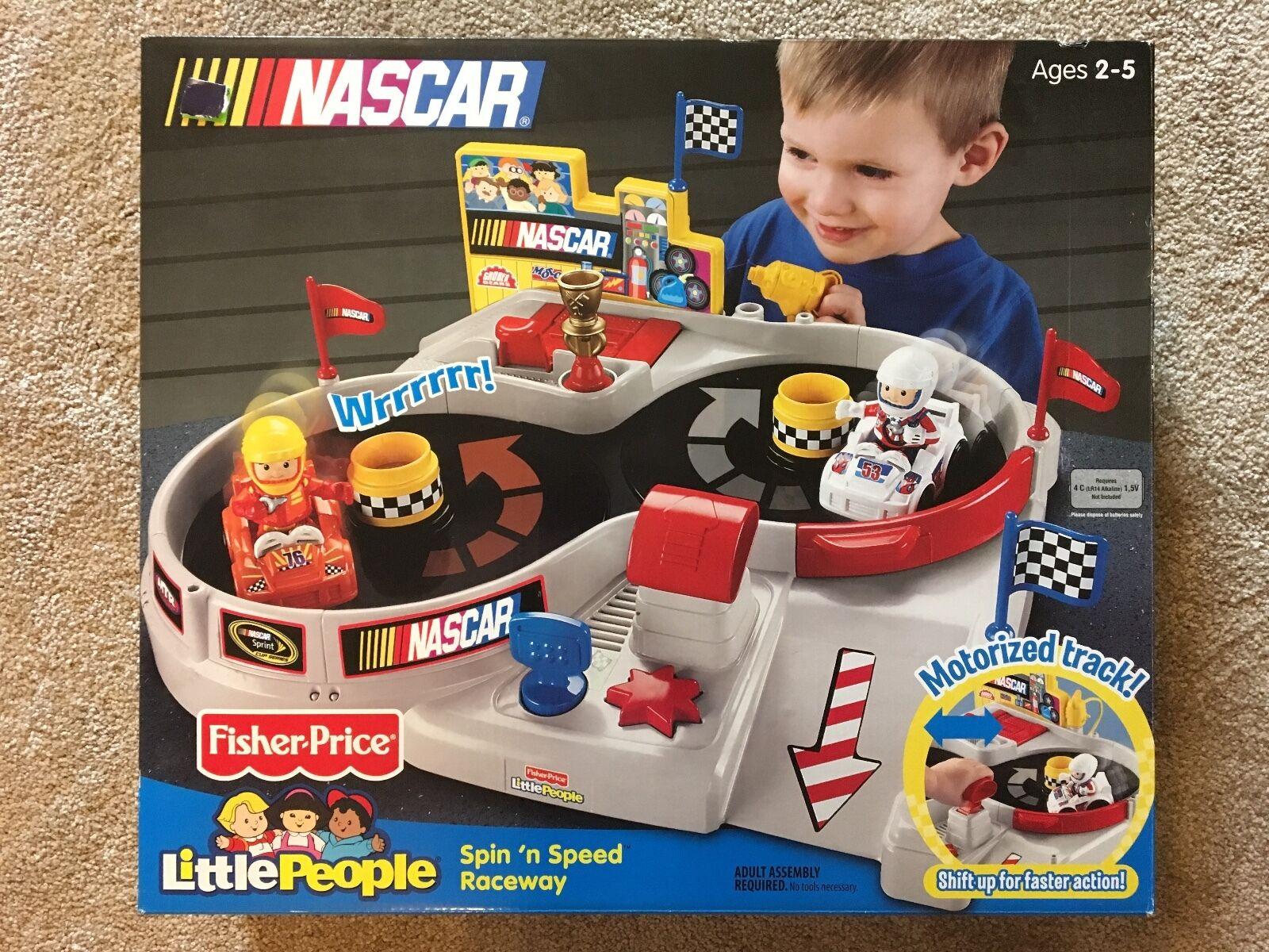 Fisher -Price liten människor NASbil Spin'N Speed Raceway KOLLEKTIVITEL  Ny i rutan