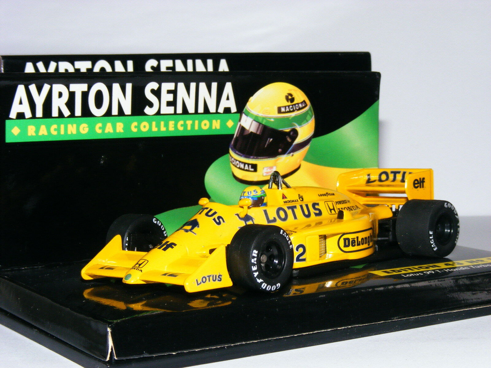 Minichamps LANG Lotus Renault 99T 1987 Ayrton Senna Collection Collection Collection No.15 1 43 c8c780