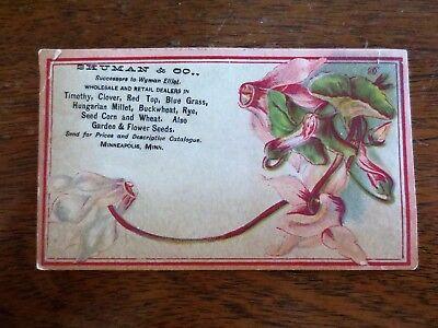 1800s Victorian Trade Card Shuman Company Farm Garden