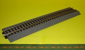 Voie-ROCO-LINE-Rail-DROIT-230-mm-av-Ballast-ref-42510-Code-83-no-Geoline
