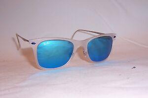 eee83f6924 New RAY BAN Sunglasses 4210 646 55 TRANSPARENT BLUE MIRROR LightRay ...