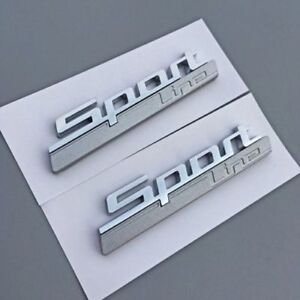 Details About 2pcs Sport Line Emblem Auto Schriftzug Aufkleber Plakette Badge Sport Line M